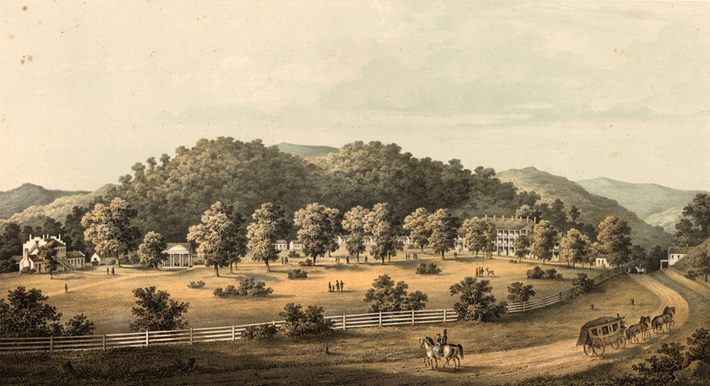 The Blue Sulphur Springs Resort in 1857