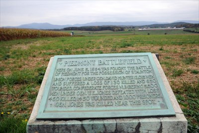 Battlefield marker, viewing the entire field.