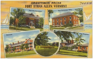 Post Card of Fort Ethan Allen