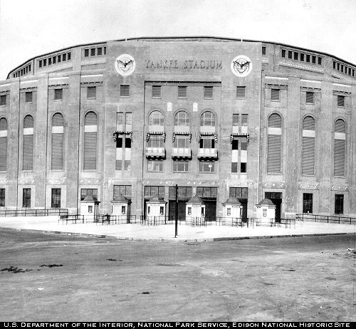 The main entrance to Yankee Stadium during the 1920s.
