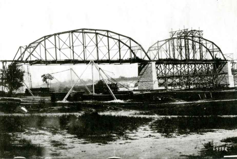 The N & W Bridge under construction.