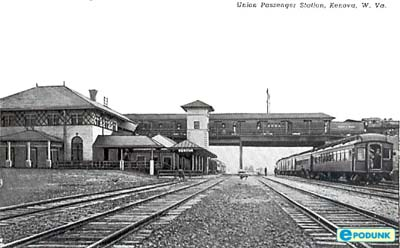 The N & W railroad depot at Kenova in the early 1900s.