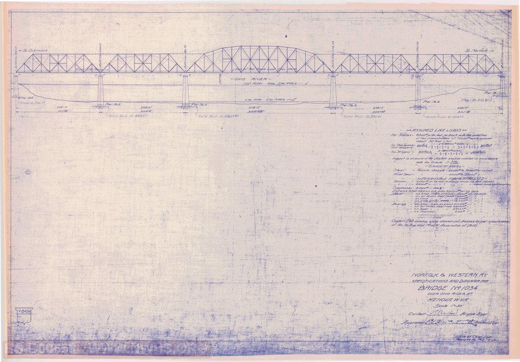 Blueprint of the proposed bridge.