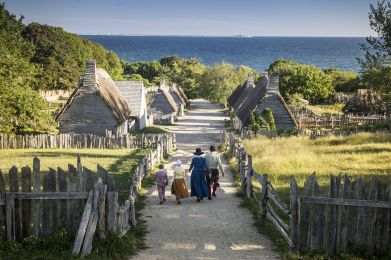 Plimoth Plantation's Old English Village (Courtesy of Destination Plymouth County)