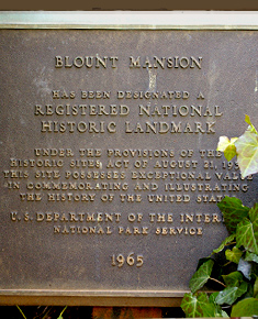 The Blount Mansion is a Registered National Historic Landmark. Marker photo courtesy of the official website.
