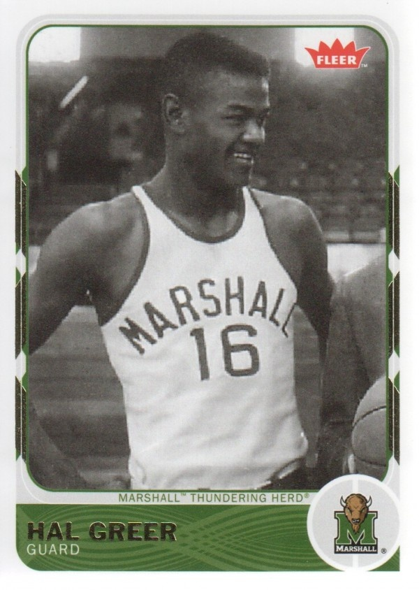 Hal Greer when he played for Marshall University. (1955)