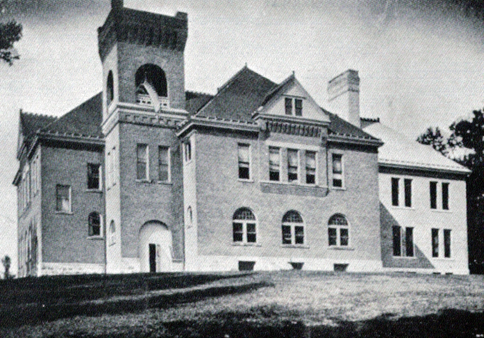 Harrison School Building, east elevation, 1907