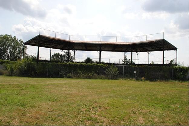 Inside the field area.