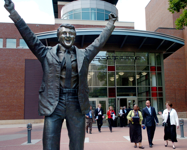 Statue of Herb Brooks in St. Paul Minnesota