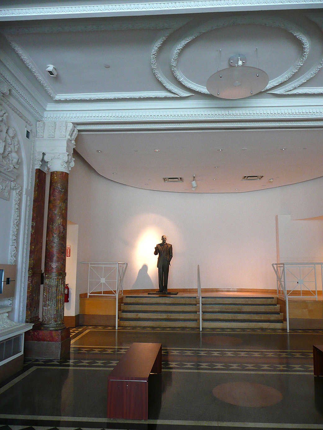 The Audubon Ballroom is most famous as the site where Malcolm X was killed on February 21, 1965.