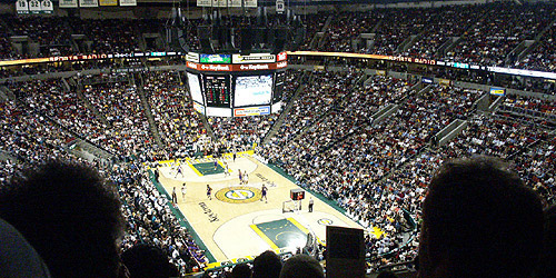 An overhead view of the inside of the arena from 2008.