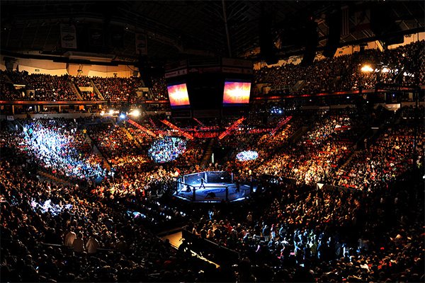 KeyArena in 2012 as it hosted a UFC Mixed Martial Arts event.  Apart from housing a few different tenants, the venue also holds several concerts and other sporting events throughout the year.