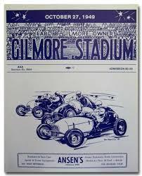 Program for Midget Car races at Gilmore Stadium
