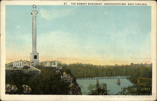 Postcard of Rumsey's Monument