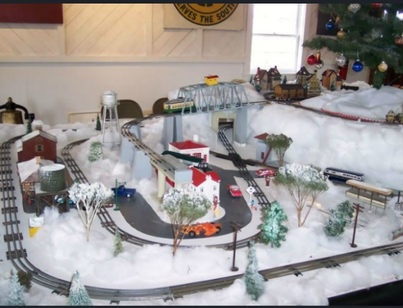 Winter Scene Display inside the museum