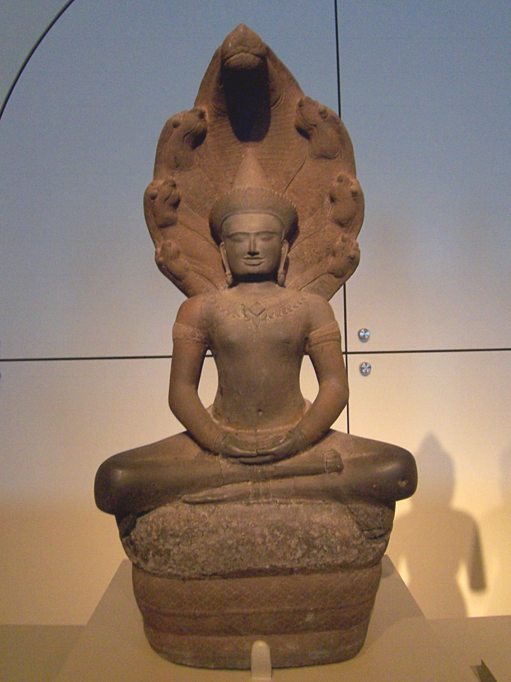 """12th-century Cambodian sculpture of Buddha"". The Museum houses an irreplaceable collection of Asian art and artifacts and represents the largest non-property asset in the City of San Francisco with an estimated value of $5 Billion."