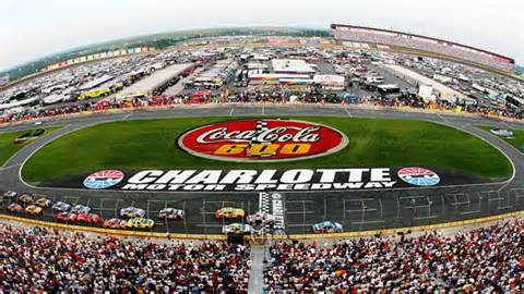 A photo of Charlotte Motor Speedway during the Coca Cola 600