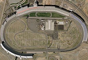 An overhead view of track.