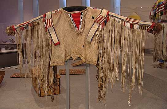 Moosehide and loon quill Cherokee costume