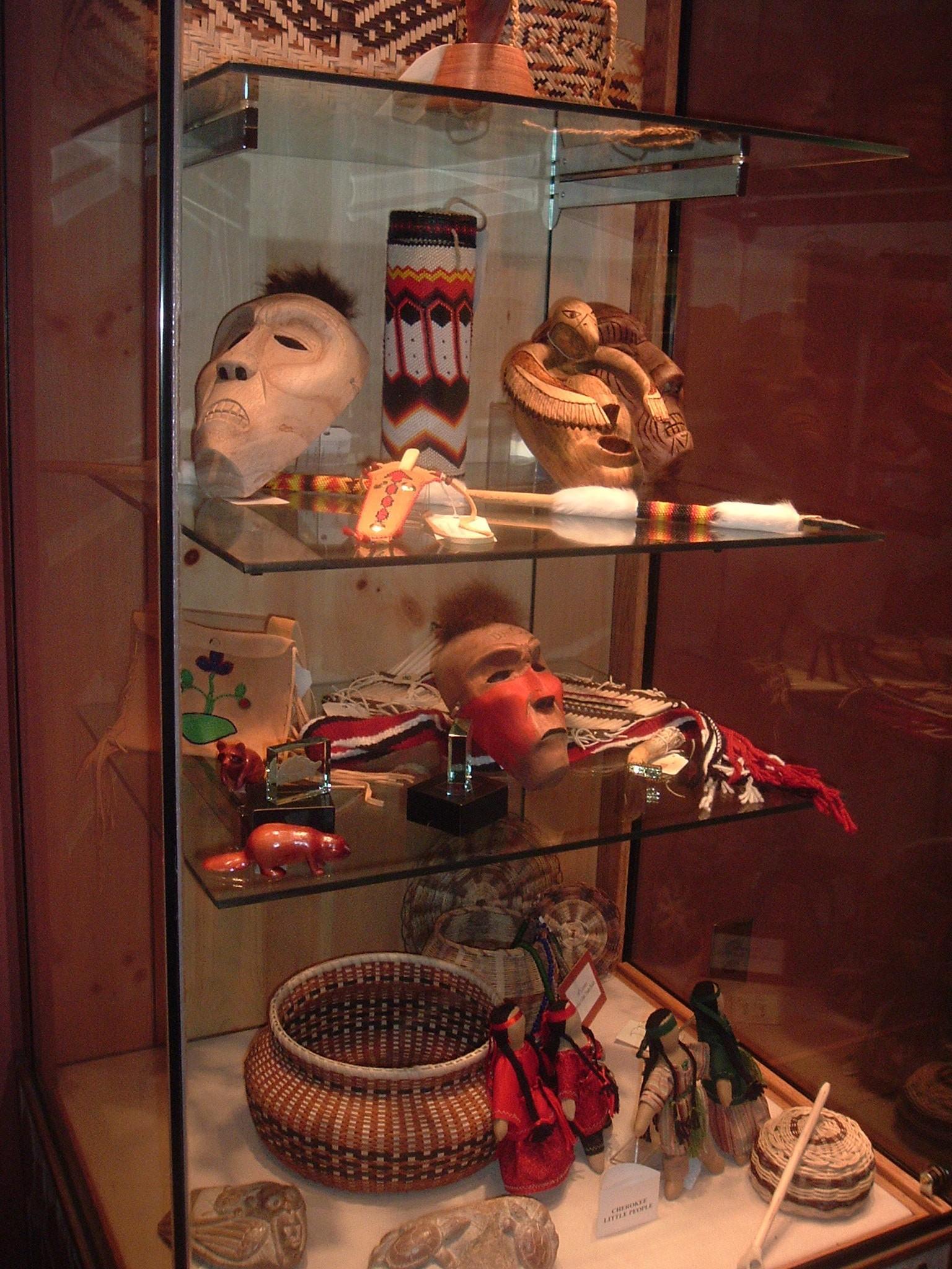 Display of Cherokee Artifacts