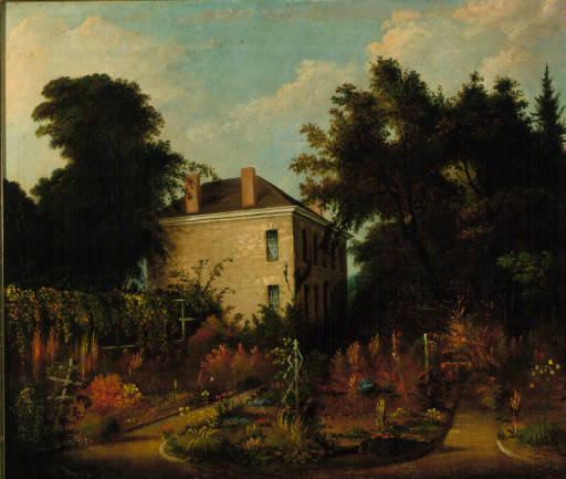 A painting of Ephraim Cutler's house in Veto, Ohio. Courtesy of Ohio University Archives and Special Collections.