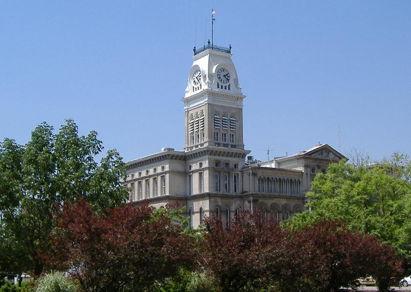 View of City Hall and its 196-foot clock tower