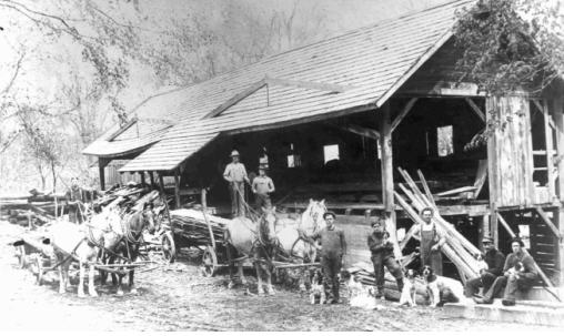 Sawmill in Weare during the early 1900s