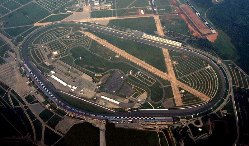 An overhead view of the track.