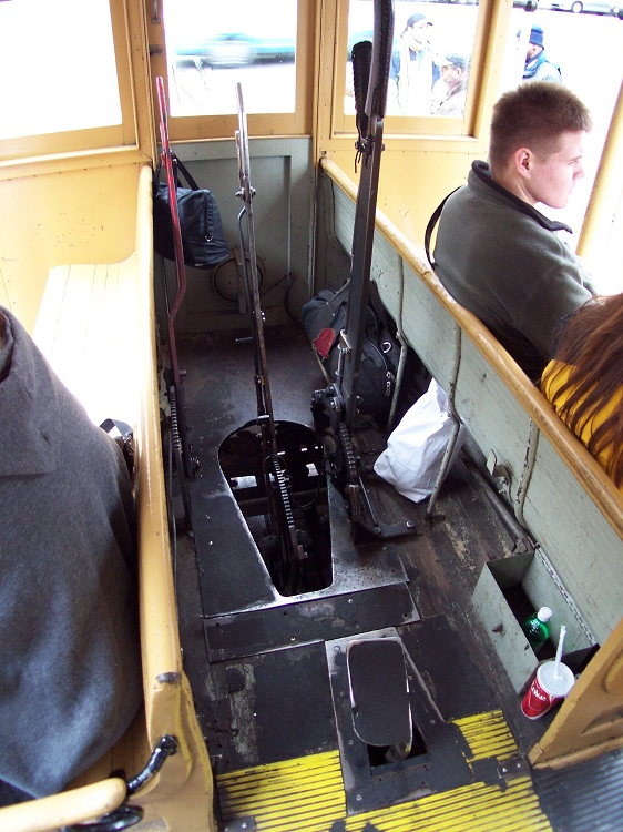 A view of the controls inside Cable Car No. 58