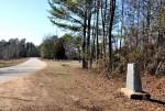 Choctaw Corner Marker Shown Alongside Road