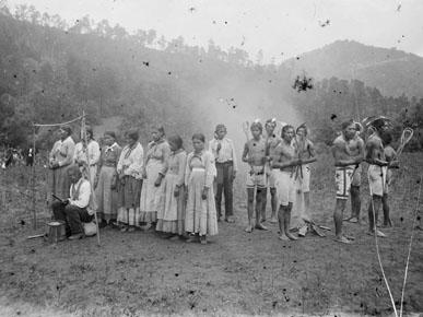 Pre-stickball Game Ceremony