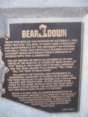 Bear Down Marker