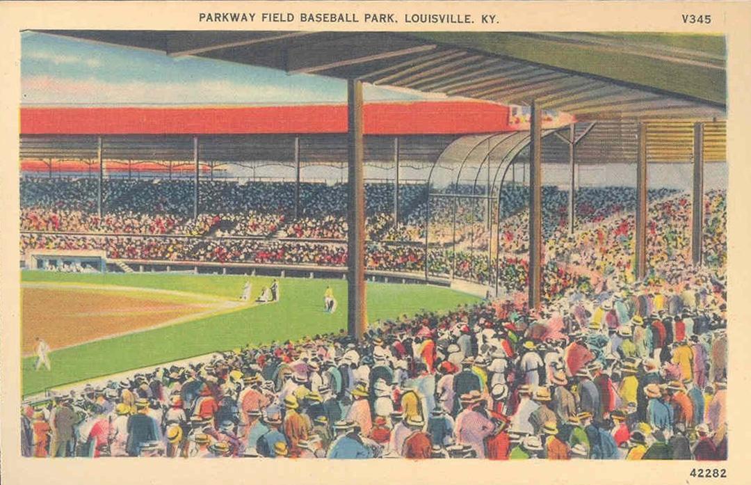 Parkway Field, Louisville, Kentucky (Postcard Publisher Kyle Co., Louisville KY)