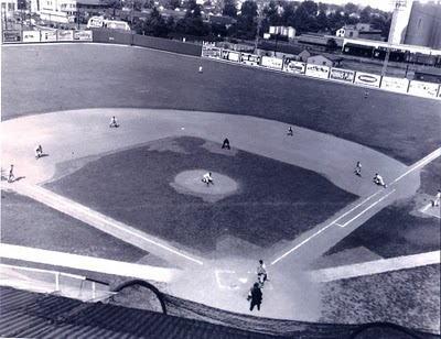 Photograph of the baseball diamond at Parkway Field