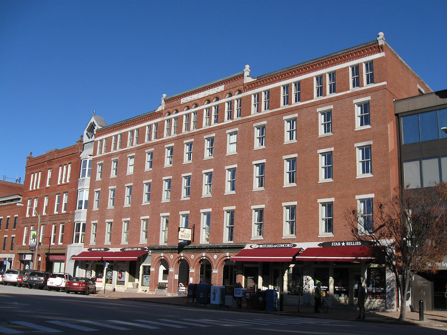 Eagle Hotel (Concord, NH), built in 1854.