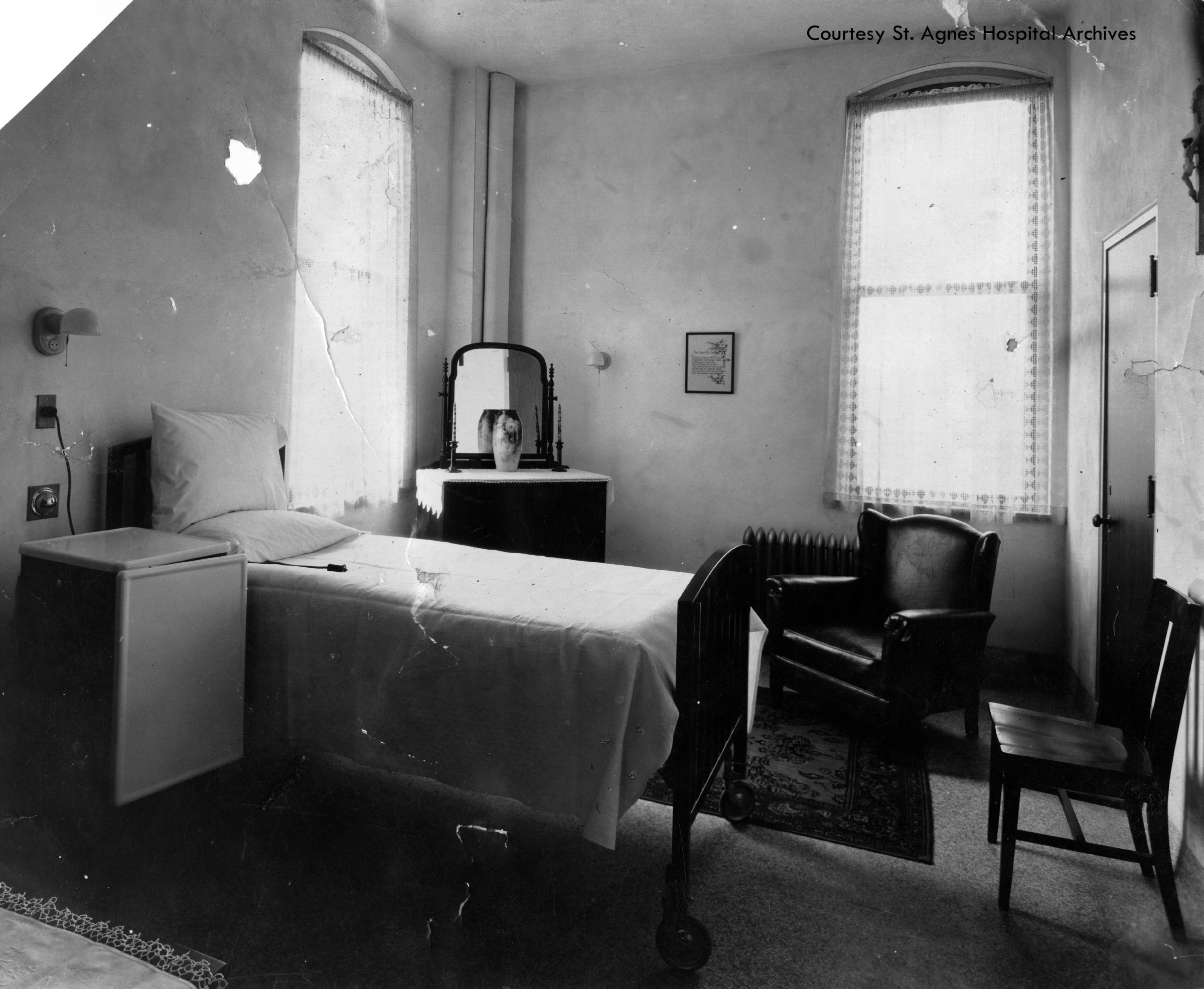 Private room at St. Agnes Hospital, c. 1925.