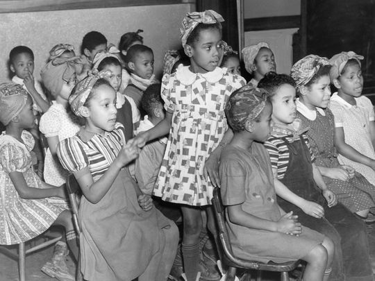 "Elementary school students at the Virginia Avenue ""Colored"" School (image from the Courier-Journal)"