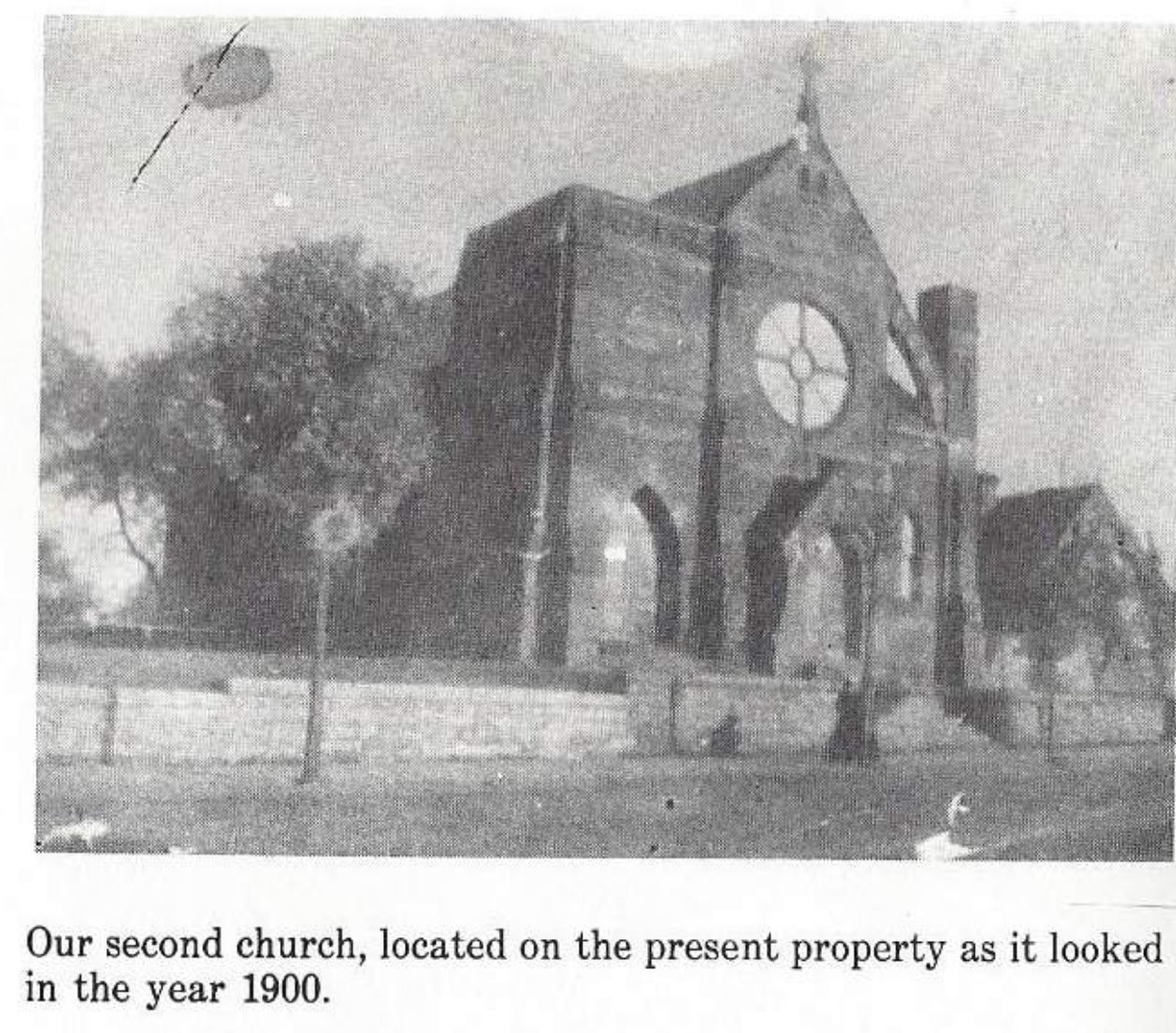 The second St. Joseph Church in 1900