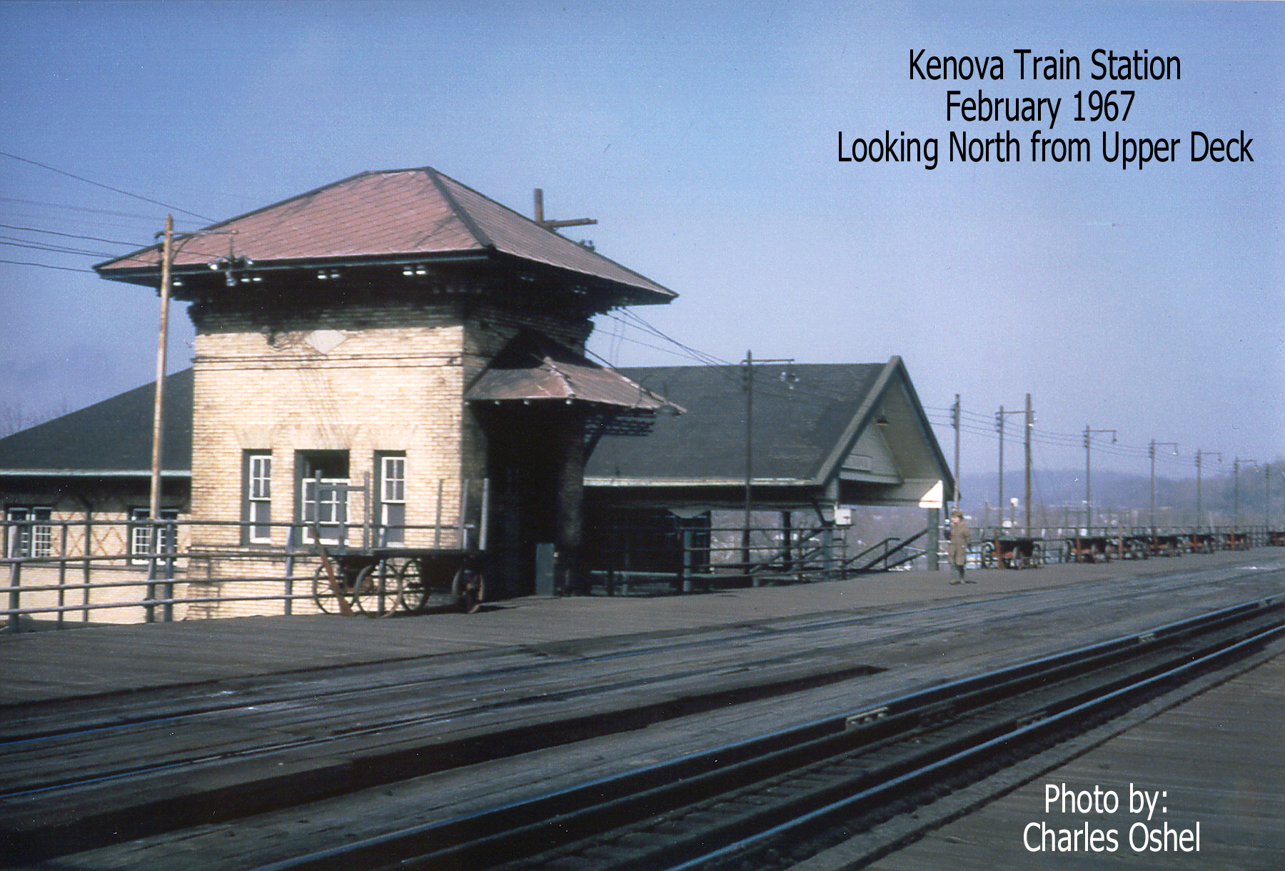 Looking north from the upper deck. Image courtesy of the Kenova Historical Commission.