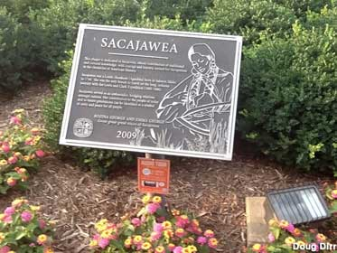 Plaque to Sacajawea that was added in 2009