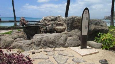 Waikiki Marker from a Short Distance