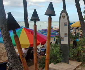 Surfboard Marker on the Waikiki Historic Trail