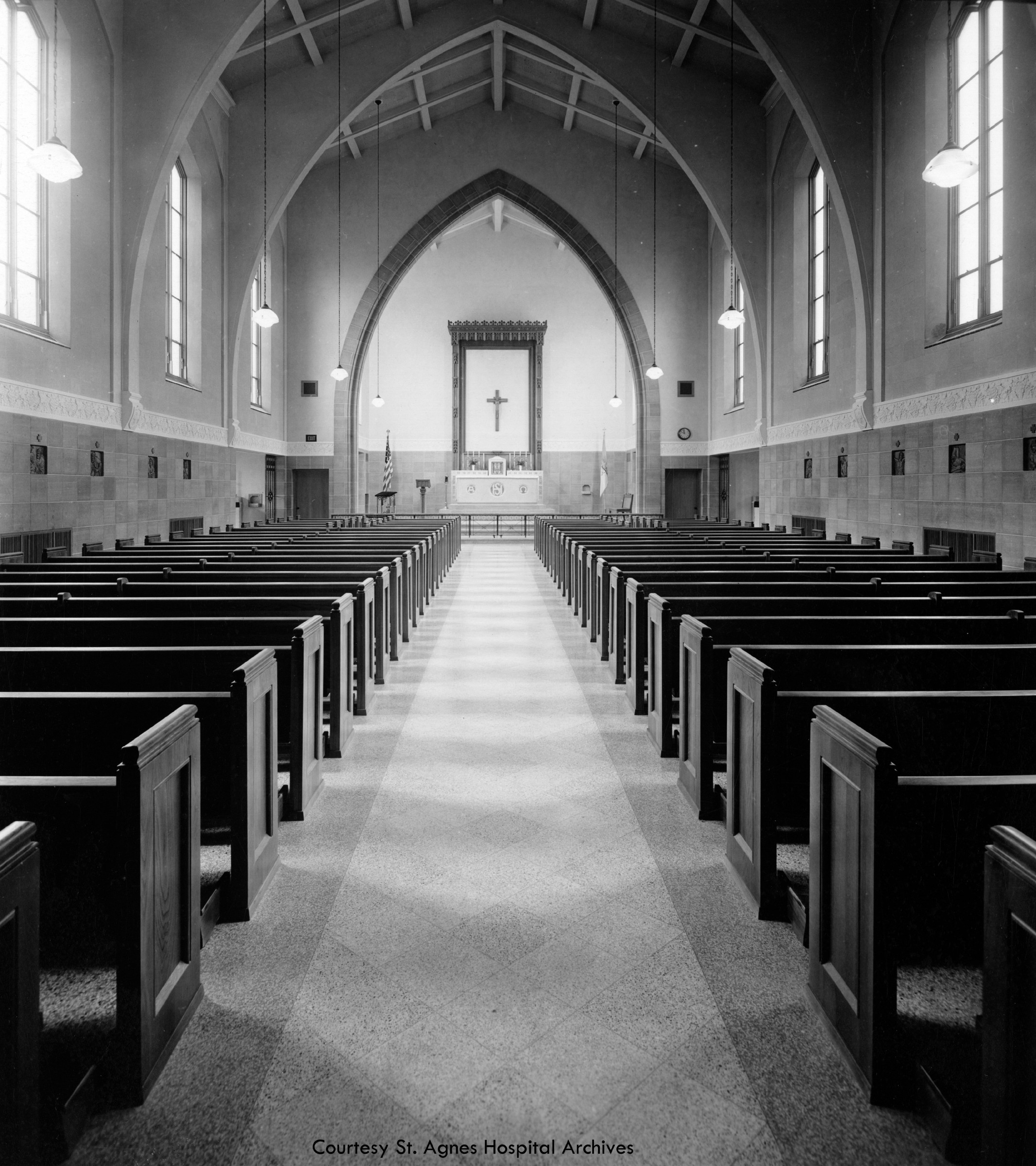 St. Agnes Hospital chapel, 1942.