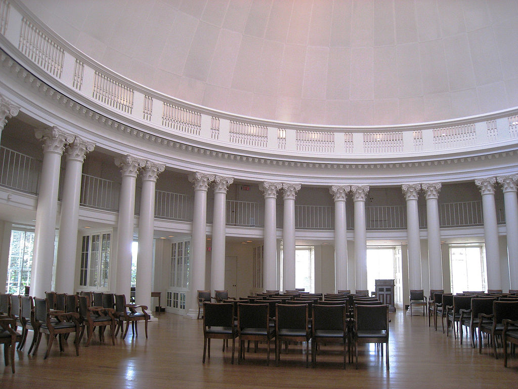 Interior of the Dome Room as it looks today. Courtesy of the University of Virginia