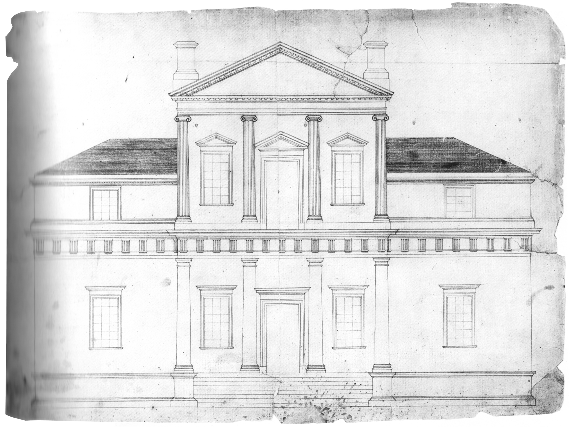 Thomas Jefferson's first sketch of Monticello. Courtesy of the Library of Congress