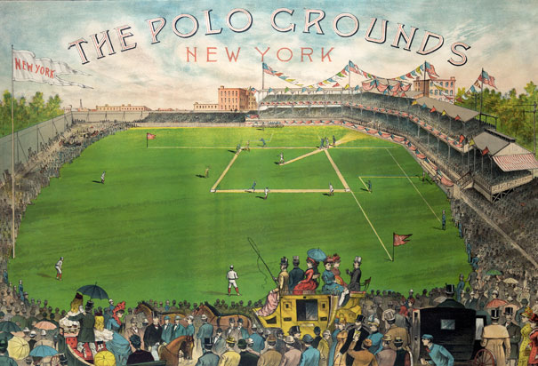 The first stadium known as the Polo Grounds was located just north of Central Park.