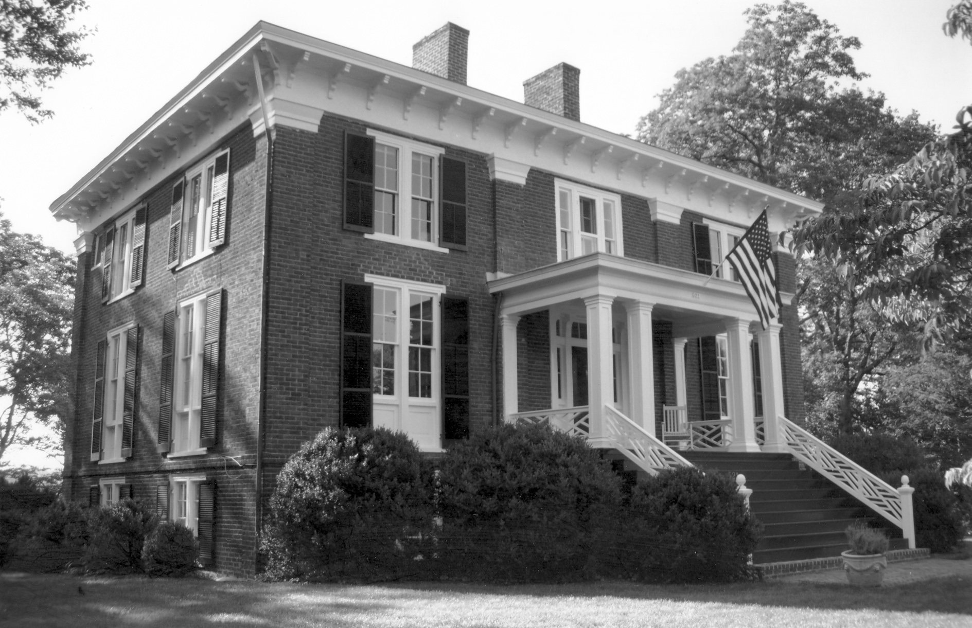 The photo used for the National Register Nomination:  Abell-Gleason House, Charlottesville
