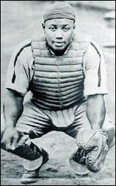 Josh Gibson, catcher for the Homestead Grays