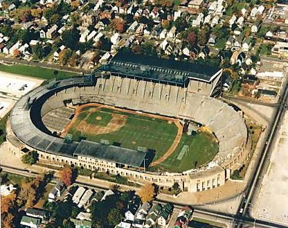War Memorial Stadium, as seen from the air, was built in 1934 and demolished in 1988.