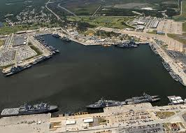 Aerial view of Naval Station Mayport.